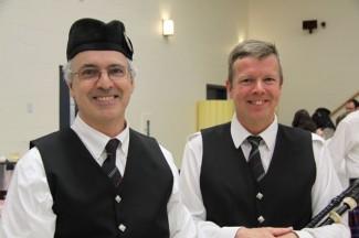 Pipe Majors Peter Barbier and Scott Bell